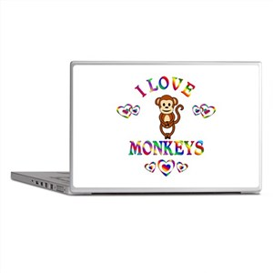 I Love Monkeys Laptop Skins