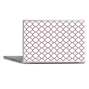 Purple, Mulberry: Quatrefoil Clover P Laptop Skins