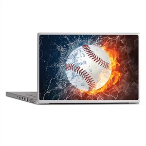 Baseball Ball Flames Splash Laptop Skins