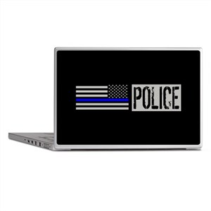 Police: Police (Black Flag, Blue Line Laptop Skins