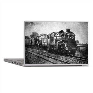 rustic vintage steam train Laptop Skins
