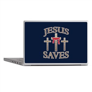 Jesus Saves Laptop Skins