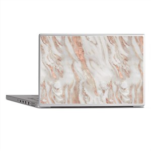 Rose Gold Marble Laptop Skins