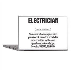 Funny Electrician Definition Laptop Skins