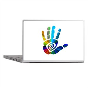 Massage Hand Laptop Skins