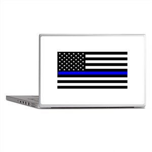 Police: Black Flag & The Thin Blue Line Laptop Ski