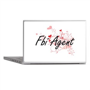 Fbi Agent Artistic Job Design with He Laptop Skins