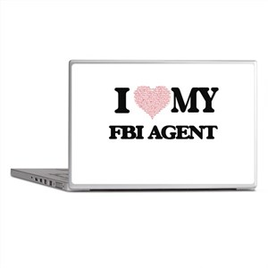 I love my Fbi Agent (Heart Made from Laptop Skins