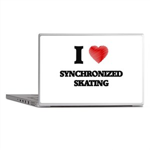 I Love Synchronized Skating Laptop Skins