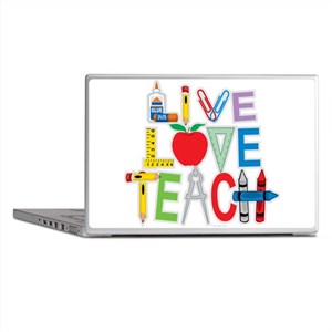 Live Love Teach Laptop Skins
