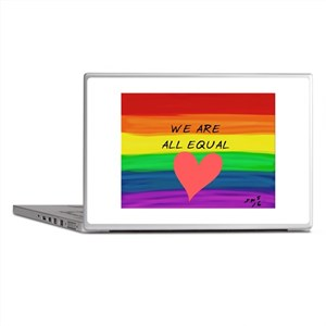 We are all equal heart Laptop Skins