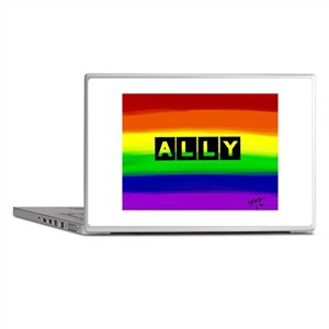 ALLY gay rainbow art Laptop Skins