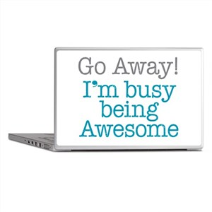 Busy Being Awesome Laptop Skins