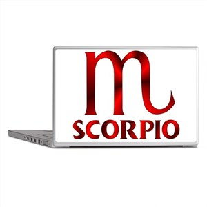 Red Scorpio Symbol Laptop Skins