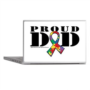 Autism Proud Dad Laptop Skins