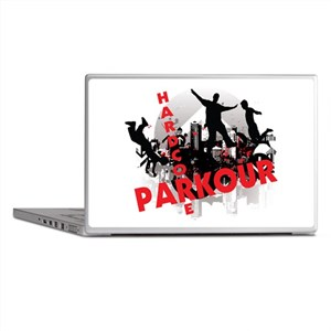 Hardcore Parkour Grunge City Laptop Skins