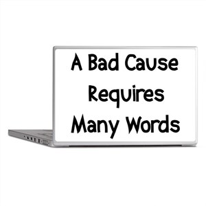 Bad Cause Many Words Laptop Skins