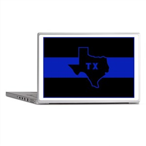 Thin Blue Line - Texas Laptop Skins