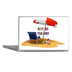 Retired Teacher, Beach Scene Revised Laptop Skins