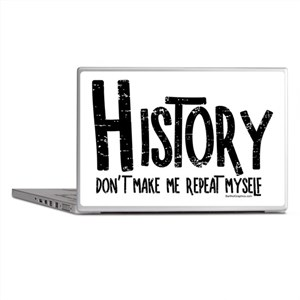 Repeat History Rough Text Laptop Skins