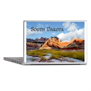 Mountains Sky in the Badlands Nation Laptop Skins