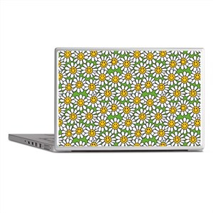 Smiley Daisy Flowers Pattern Laptop Skins