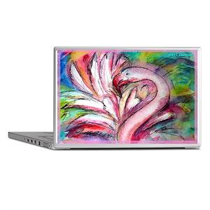 ab35f1f5f44f Flamingo, colorful, fun, art! Laptop Skins