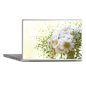 Bouquet of daisies in LOVE Laptop Skins
