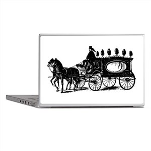Black Victorian Hearse Laptop Skins