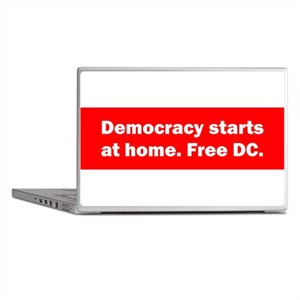 Democracy Starts at Home Laptop Skins