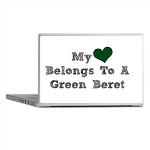 My Heart Belongs To A Green Beret Laptop Skins