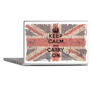 UK Flag with Keep Calm and Ca Laptop Skins