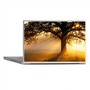 Oak tree at sunrise - Laptop Skins