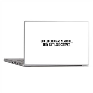 Old Electricians Never Die Laptop Skins