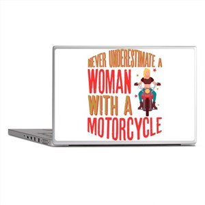 Never Underestimate A Woman With A Mo Laptop Skins