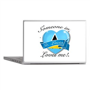 St. Lucia Flag Design Laptop Skins