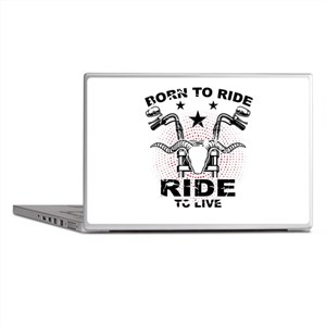 Motorcycle Biker Gift Born To Ride Ri Laptop Skins