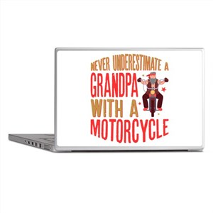 Mens Never Underestimate A Grandpa wi Laptop Skins