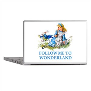 FOLLOW ME TO WONDERLAND Laptop Skins