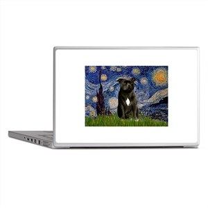 Starry-Am.Staffordshire (blk) Laptop Skins