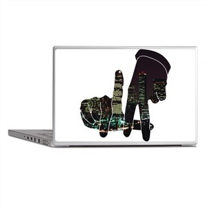 black hands Laptop Skins