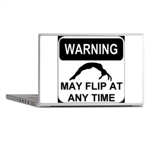 Warning may flip Laptop Skins