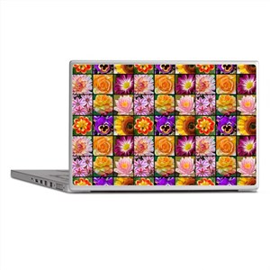 Colorful flower collage Laptop Skins