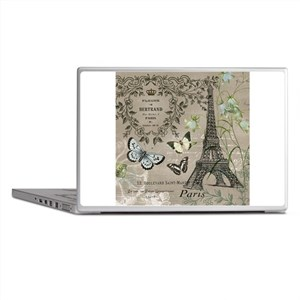 Vintage French Eiffel Tower Laptop Skins