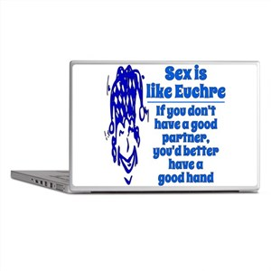 Sex is like Euchre Laptop Skins