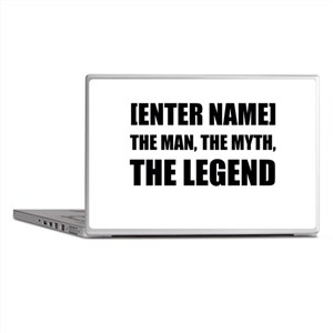 Man Myth Legend Personalize It! Laptop Skins