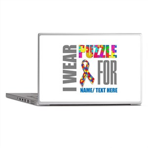 Autism Awareness Ribbon Customized Laptop Skins
