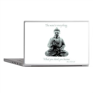 Buddha quote : Mind is Everything Laptop Skins