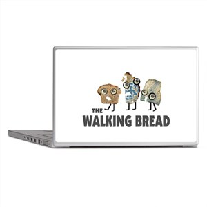 the walking bread Laptop Skins