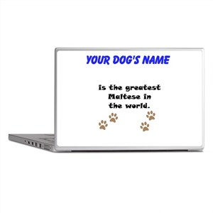 Greatest Maltese In The World Laptop Skins